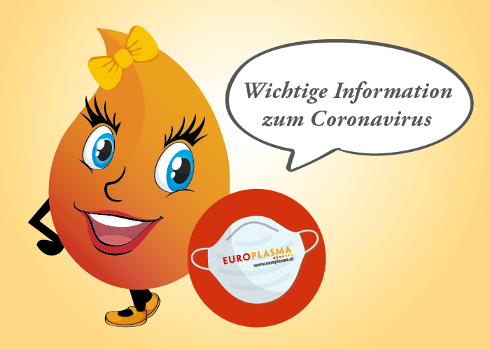 Europlasma - Plasma spenden - Wichtige Infos zum Coronavirus