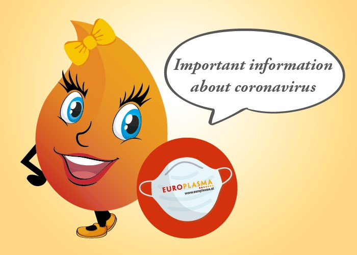 Europlasma - Donate plasma - Important Information Coronavirus