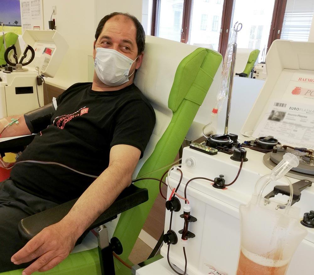 Plasma spenden Leben retten